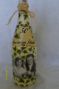 Butelka na 50-tą rocznicę ślubu cioci i wujka Balzer 4