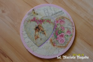 Kafelka retro różowa